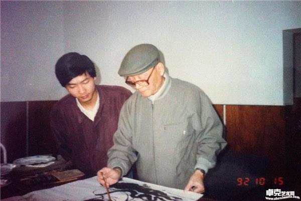 (1992年)和恩师顾炳鑫先生合影
